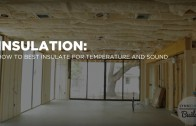 Insulating with Spray Foam for Temperature and Batts for Sound Attenuation