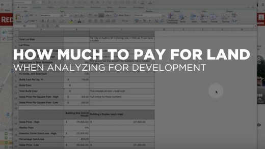 Screencast: Land Cost Analysis